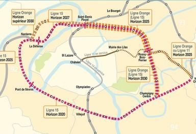 Ligne 15 Est (Ligne Orange)
